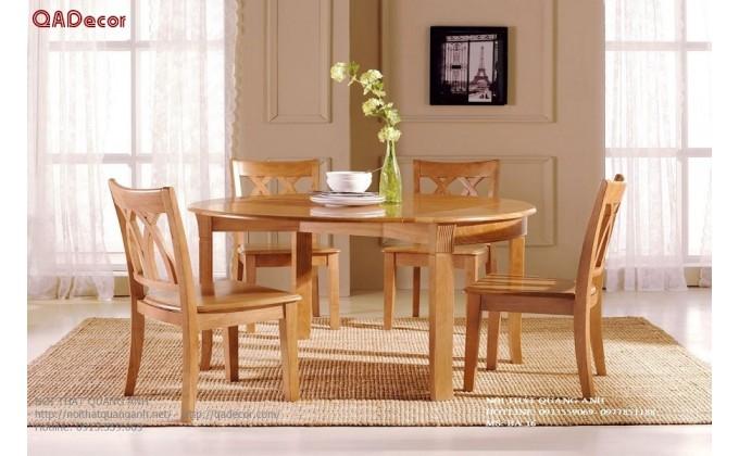 Bộ bàn ghế phòng ăn gỗ Sồi Nga BA16