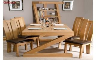 Bộ bàn ghế phòng ăn hiện đại gỗ Sồi Nga BA22