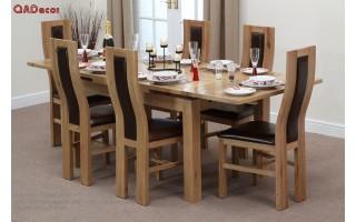Bộ bàn ghế phòng ăn gỗ Sồi Nga BA35