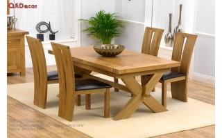 Bộ bàn ghế phòng ăn gỗ Sồi Nga BA45