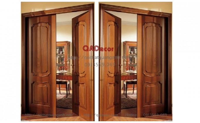 Cửa gỗ tự nhiên 2 cánh CG01