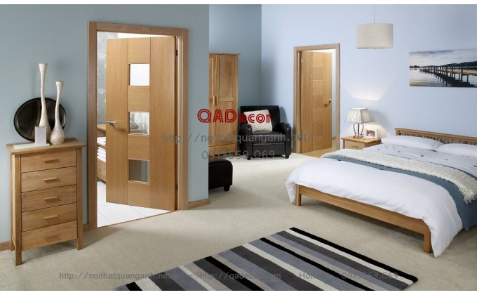 Cửa gỗ công nghiệp veneer CVN01