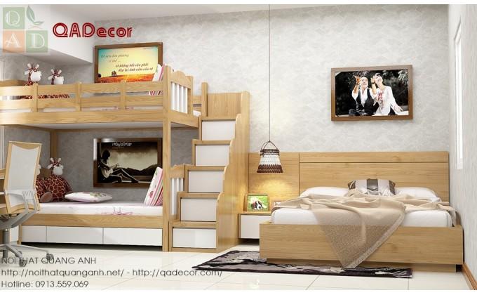 Giường ngủ 2 tầng trẻ em đẹp hiện đại