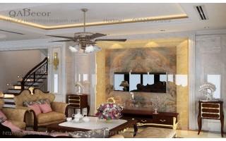 Thiết kế nội thất biệt thự tân cổ điển QAD - TKCĐ1