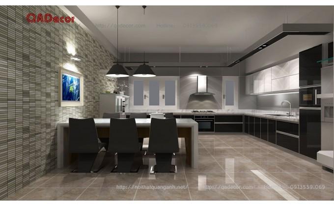 Mẫu thiết kế tủ bếp phòng ăn hiện đại
