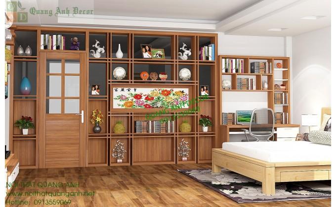 Tủ bếp gỗ sồi nga tại Quang Anh uy tín, chất lượng