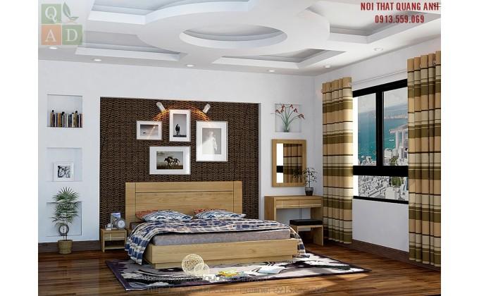 Giường ngủ gỗ đẹp hiện đại GN09
