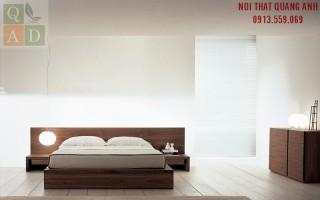 Giường ngủ gỗ óc chó hiện đại GN12