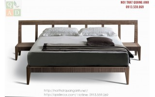 Giường ngủ gỗ tự nhiên đẹp GN71