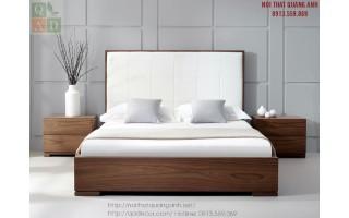 Giường ngủ gỗ tự nhiên hiện đại GN16