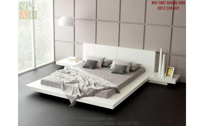 Giường ngủ đẹp màu trắng GN21