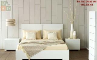 Giường ngủ gỗ màu trắng GN27