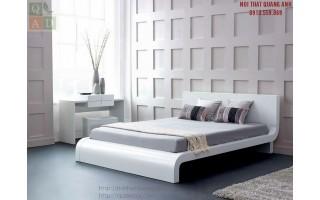 Giường ngủ gỗ tự nhiên sơn trắng GN26
