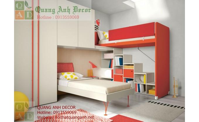 Mẫu thiết kế phòng ngủ trẻ em hiện đại PTE2