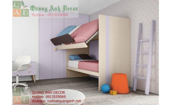 Mẫu nội thất phòng ngủ trẻ em đẹp PTE3