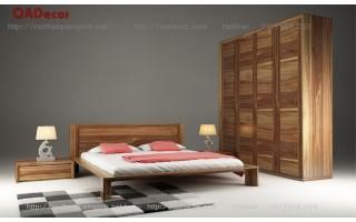 Nội thất phòng ngủ gỗ Óc chó Walnut PN60