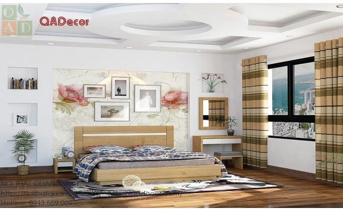 Giường ngủ gỗ Sồi Nga GN08