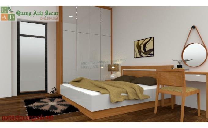 Phòng ngủ gỗ Sồi Nga PN918