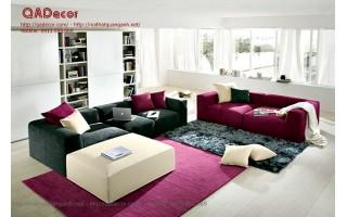 Mẫu sofa nỉ phòng khách hiện đại SF11