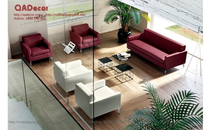 Mẫu sofa da hiện đại phòng khách SF22