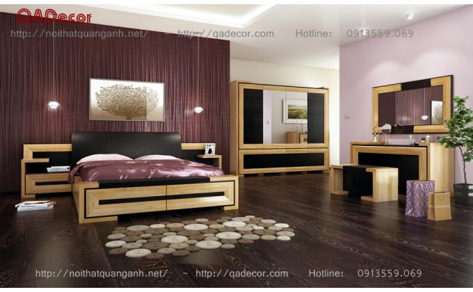 Nội thất phòng ngủ gỗ Sồi Nga PN61