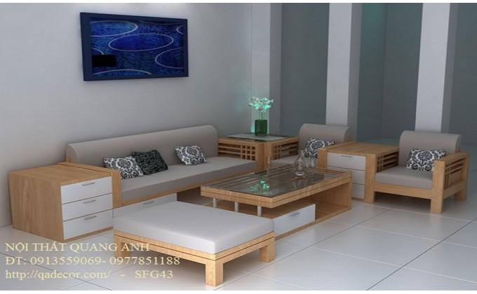 Bộ sofa gỗ phòng khách SFG43