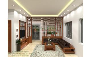 Thiết kế nội thất phòng khách PK89