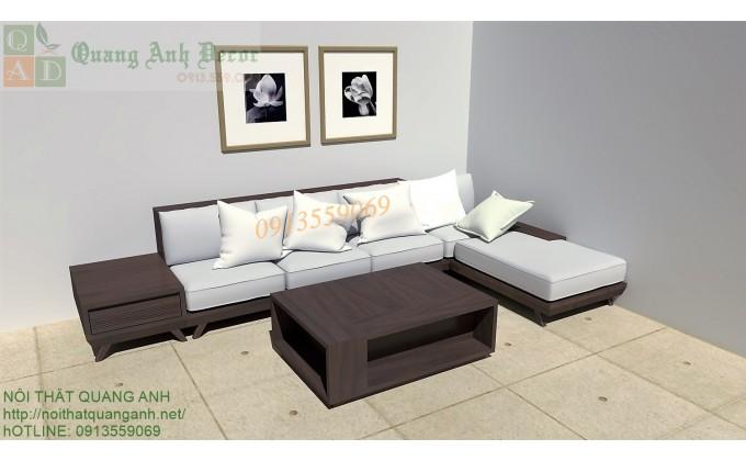 Bàn ghế gỗ phòng khách hiện đại SFG919
