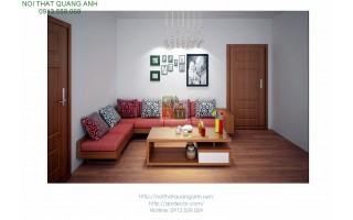 Bộ bàn ghế gỗ sofa GÓC SFG423