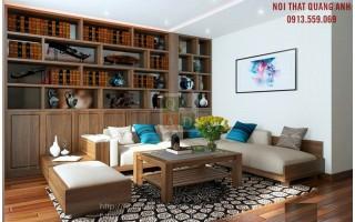 Bộ sofa gỗ phòng khách SFG424