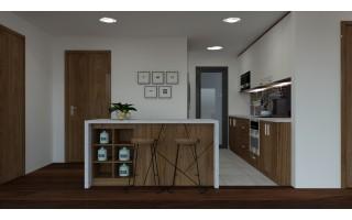 Tủ bếp gỗ AN CƯỜNG TB819
