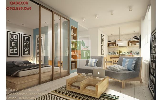 Thiết kế căn hộ chung cư 1 phòng ngủ