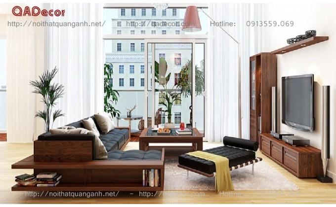 Mẫu sofa gỗ phòng khách SFG46