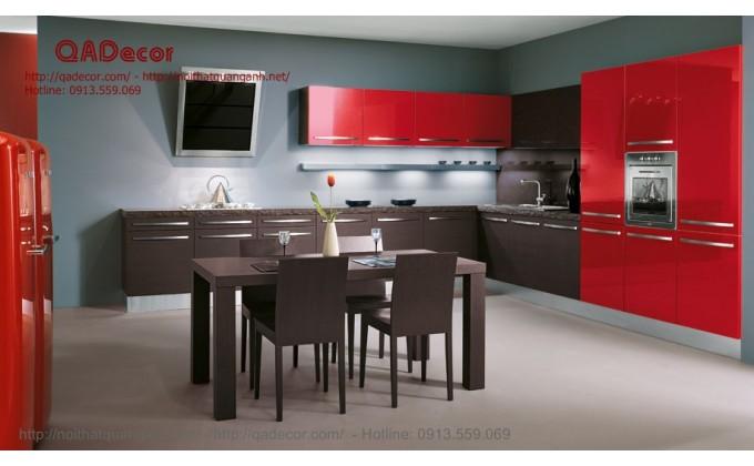 Tủ bếp gỗ acrylic Quang Anh uy tín, chất lượng