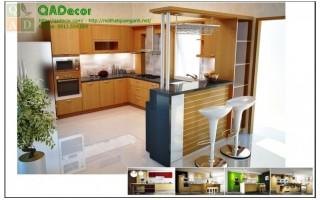 Tủ bếp gỗ tự nhiên xoan đào