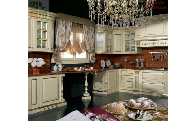 Tủ bếp tân cổ điển châu âu Angel