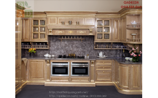 Tủ bếp gỗ Sồi TB99