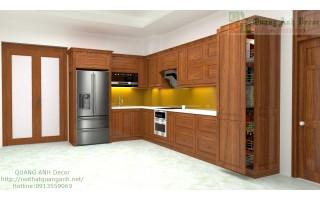 Tủ bếp gỗ gõ đỏ PACHI TBG919