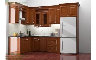 Tủ bếp gỗ Xoan đào TB890