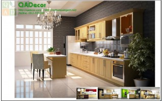Tủ bếp có bàn đảo TBD01