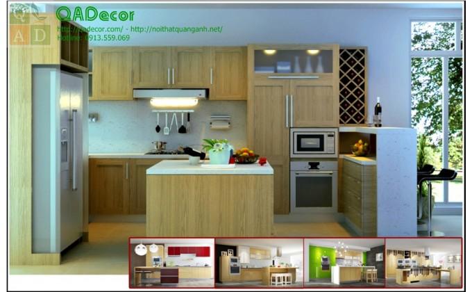 Tủ bếp đảoTBD02