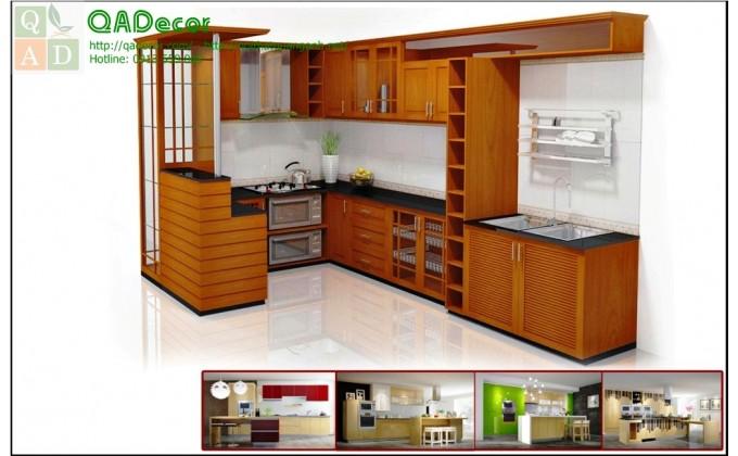Tủ bếp gỗ tự nhiên  TBU3