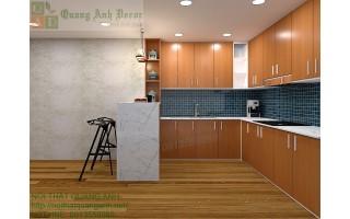 Tủ bếp hiện đại gỗ MFC 89