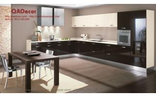 Tủ bếp hiện đại gỗ Acrylic TBA101