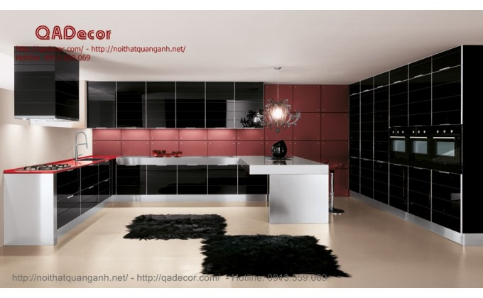 Tủ bếp acrylic TBA201