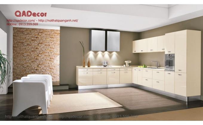 Tủ bếp gỗ acrylic TBA801