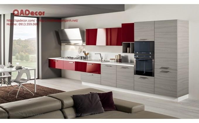 Tủ bếp hiện đại gỗ Laminate TBL10
