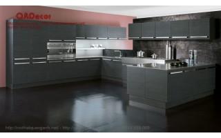 Mẫu tủ bếp hiện đại gỗ Laminate TBL12