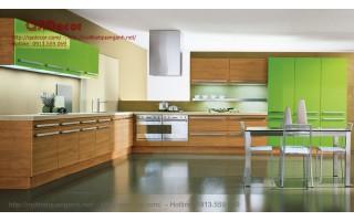 Tủ bếp gỗ Laminate hiện đại TBL21