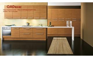 Tủ bếp hiện đại gỗ veneer TBV24